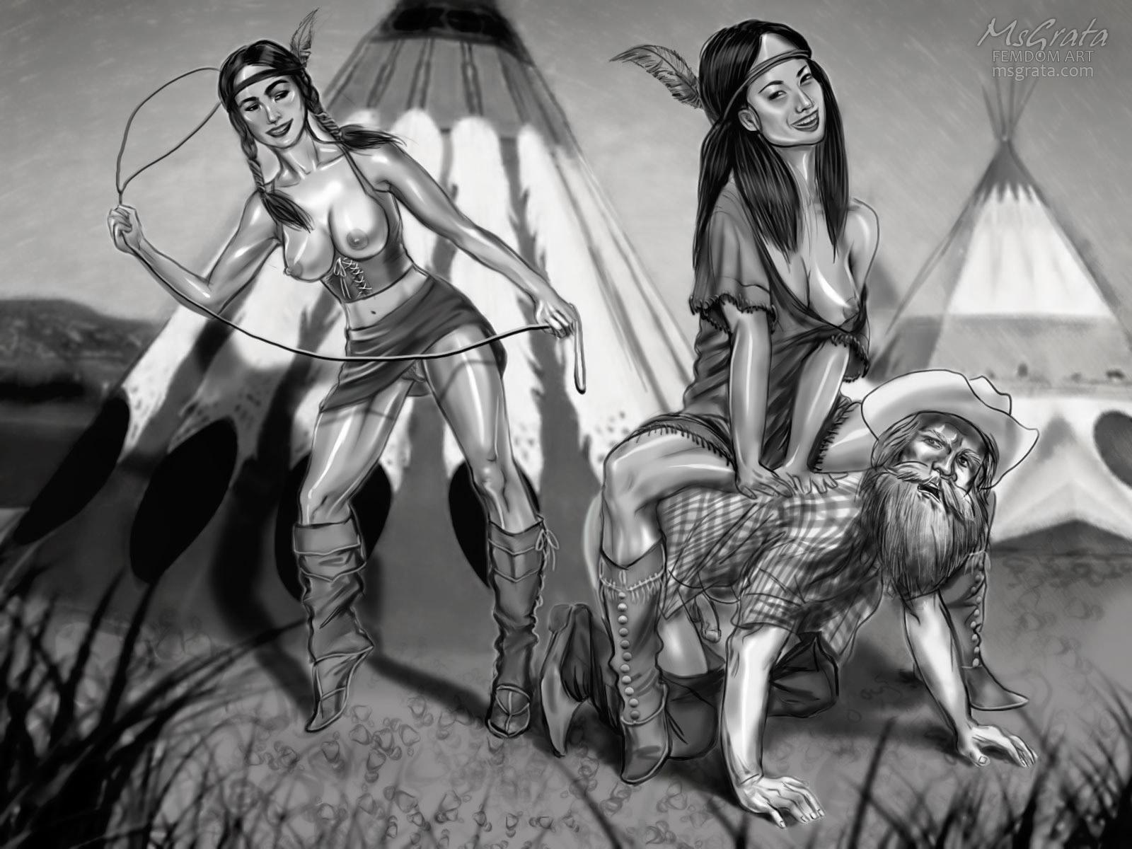 Public humiliation Funny Indian Summer femdom art fantasy by MsGrata