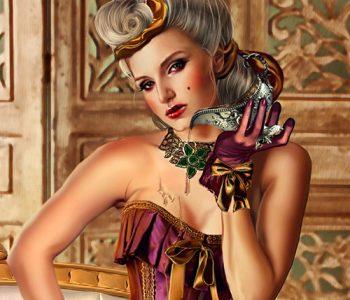 Medieval strap-on dildo pegging domina MsGrata's femdom art fantasy