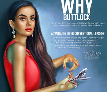 Sissy slave public humiliation with Buttlock femdom art fantasy by MsGrata